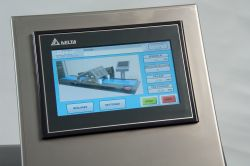 Waterproof touch screen for programming and control